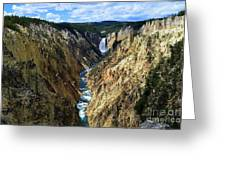 Lower Yellowstone Falls Panorama 2 Greeting Card