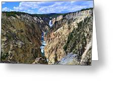 Lower Yellowstone Falls Panorama Greeting Card