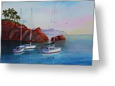 Lowered Sails Greeting Card