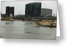 Lowhead Dam Removal Columbus Ohio Usa 14 Greeting Card