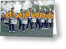 Lsu Marching Band Greeting Card by Steve Harrington