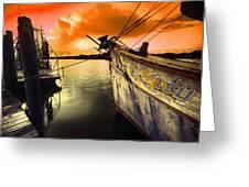 Lsu Shrimp Boat Greeting Card
