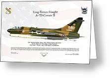 Ltv Ling Temco Vought A-7d Corsair II Greeting Card