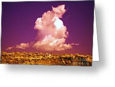 Lubriano, Italy, Infrared Photo Greeting Card