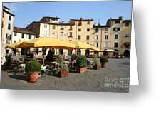 Lucca Piazza Del Mercato  Greeting Card