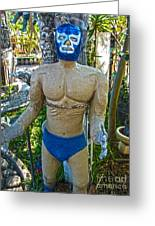 Luche Libre - 01 Greeting Card by Gregory Dyer