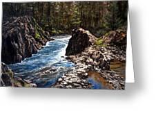 Lucia Falls Downstream Greeting Card