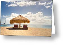 Lucian Beach Hut Greeting Card