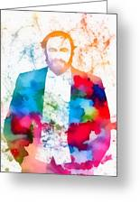 Luciano Pavarotti Paint Splatter Greeting Card
