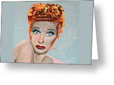 Lucille Ball Portrait Greeting Card
