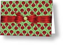 Lucky Ladybugs Greeting Card
