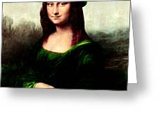Lucky Mona Lisa Greeting Card by Gravityx9  Designs