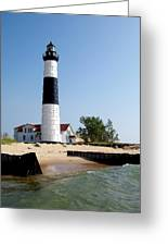 Ludington Michigan's Big Sable Lighthouse Greeting Card