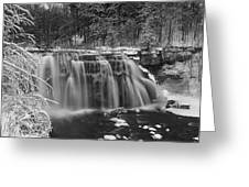 Ludlowville Falls In Winter I Greeting Card