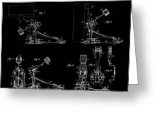 Ludwig Drum Pedal 4 Patent Art 1951 Greeting Card