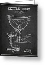Ludwig Kettle Drum Drum Patent Drawing From 1941 - Dark Greeting Card