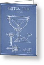 Ludwig Kettle Drum Drum Patent Drawing From 1941 - Light Blue Greeting Card