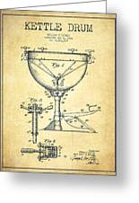 Ludwig Kettle Drum Drum Patent Drawing From 1941 - Vintage Greeting Card