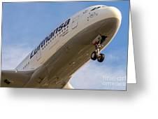 Lufthansa Airbus A-380 Greeting Card