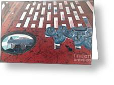Lug Nuts On Grate And Circle H Greeting Card