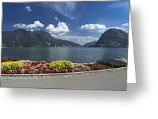 Lugano By Lago Di Lugano Greeting Card