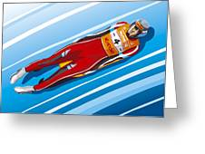 Luge Racer Winter Sport Greeting Card