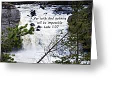 Luke 1 37  Greeting Card