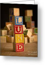 Luke - Alphabet Blocks Greeting Card