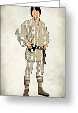 Luke Skywalker - Mark Hamill  Greeting Card by Ayse Deniz