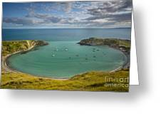 Lulworth Cove Evening Greeting Card