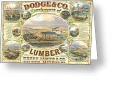 Lumber Company Ad 1880 Greeting Card