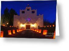 Luminaria Saint Francis De Paula Mission Greeting Card