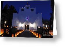 Luminarias At St Francis De Paula Greeting Card