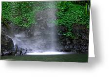 Luminous Falls Greeting Card