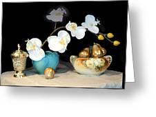 Luminous Watercolor Orchids Greeting Card