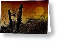 Luna De Sangre Greeting Card by Karen Slagle