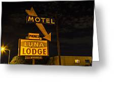 Luna Lodge Night Greeting Card