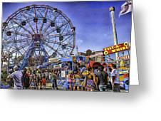 Luna Park 2013 - Coney Island - Brooklyn - New York Greeting Card