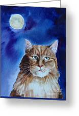 Lunar Cat Greeting Card