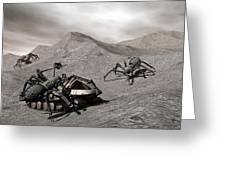 Lunar Vehicle In Distress Greeting Card