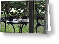 Lunch Guests Al Fresco Greeting Card