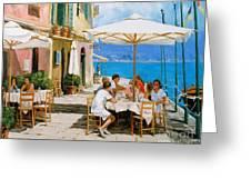 Lunch In Portofino Greeting Card