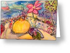Lunch On The Terrace Greeting Card