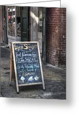 Lunch Specials Greeting Card