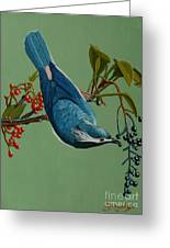 Lunch Time For Blue Bird Greeting Card