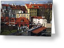 Lunch Time In Prague Greeting Card
