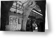 Lunchtime At Chelsea Market Greeting Card by Rona Black