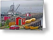 Lunenburg Wharf In The Fog-ns Greeting Card