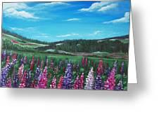 Lupine Hills Greeting Card
