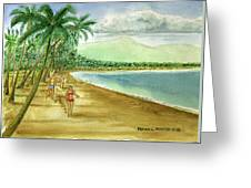 Luquillo Beach And El Yunque Puerto Rico Greeting Card